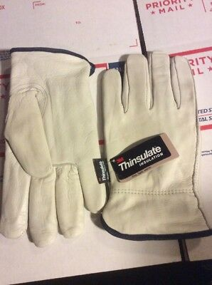 Leather Work Gloves With 3m Thinsulate Xl