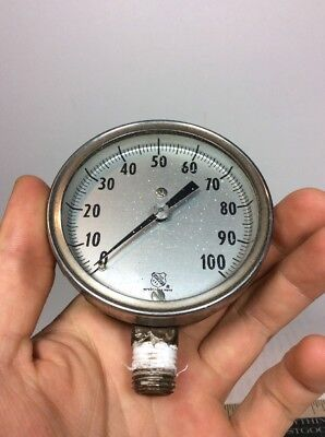 Ashcroft Pressure Gauge 0-100 Psi 6in 12in Npt Manning Maxewell Moore Inc