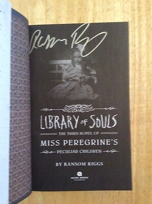 SIGNED - Ransom Riggs - Miss Peregrine's Peculiar Children: Library of Souls 3