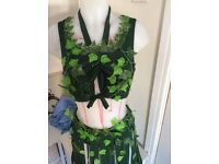 Poison Ivy Costume Sz 12/14 One Off Great For Halloween More 4 Sale Take A Look