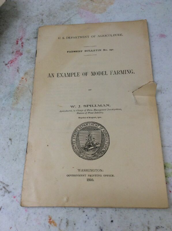 191 US DEPARTMENT OF AGRICULTURE FARMERS BULLETIN 1910 Example Of Model Farming