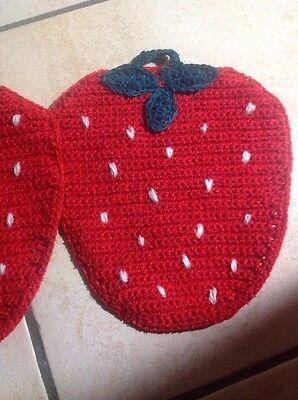 Topflappen Handarbeit Erdbeere Geschenk!!!