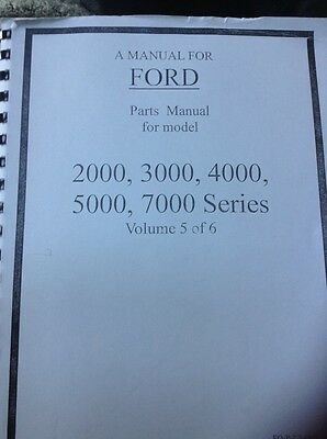 Ford Tractor Parts Manual For Models 2000 30004000 5000 And 7000 Series 6 Vol