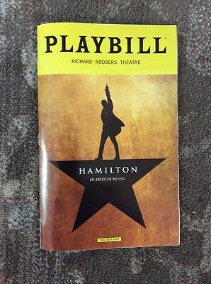 2016 Hamilton Broadway Musical Playbill Renee Goldsberry Anthony Ramos 6th Ed