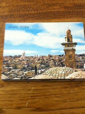 VINTAGE  JERUSALEM, OLD CITY POSTCARD PICTURE FOLDOUT BOOK