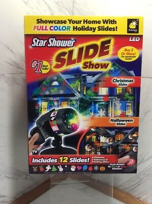 2 CT Star Shower Holiday Slideshow As Seen On TV LED Light Projector LIGHT SHW