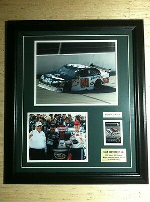 Dale Earnhardt Jr 2008 Lifelock 400 Champion Autographed Framed Photo Collage