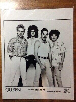 Queen Live Aid 1985 Original Band Photo Freddie Mercury Brian May