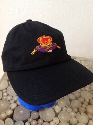 CROWN ROYAL Strapback Hat - Cap - Black/Purple- Embroidered - NEW
