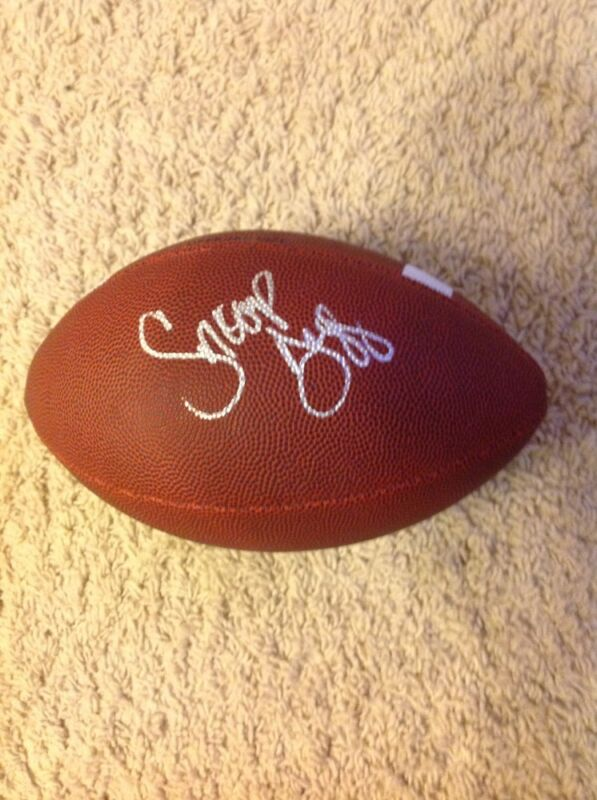Snoop Dogg autographed football