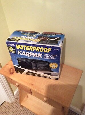 (Highland Waterproof Karpak Car Rooftop Carrier. New in Box.)