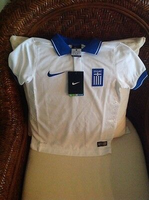 Nike Greece 2014/2015 NWT $75 Soccer Jersey/shirt Football Size XS Youth Unisex image