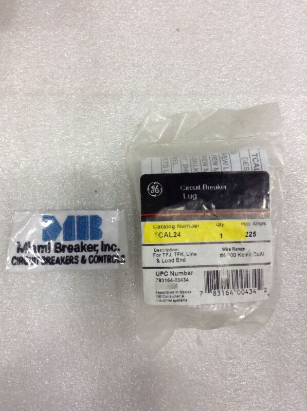 TCAL24 General Electric GE Circuit Breaker Lug Kit NEW!!