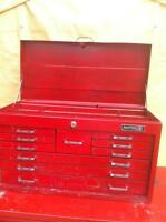 MATCO TOP TOOL BOX CHEST WITH 10 DRAWERS AND TOP STORAGE