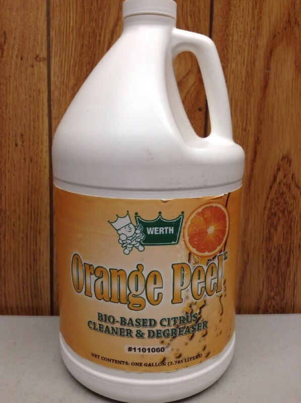 WERTH SANITARY SUPPLY 1101060  Orange Peel BioBased Degreaser,1 gal, PK4,