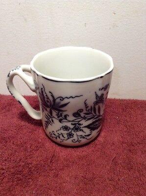 Vintage Arnart Blue Onion Coffee Cup Crossed Swords NICE