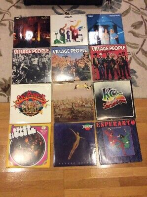DISCO Record Vinyl Album LP Lot ABBA VILLAGE PEOPLE BEE GEES HUSTLE KC TAVARES