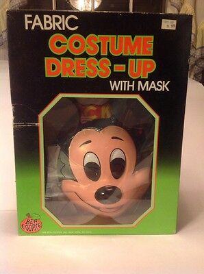NOS Vintage 1989 Ben Cooper Disney Mickey Mouse Halloween Costume & Mask W/Box