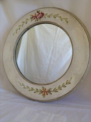 shabby chic volley painted mirror