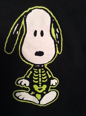 NWT Peanuts SNOOPY Skeleton Pet Dog Shirt MEDIUM Halloween Costume BLACK & Green