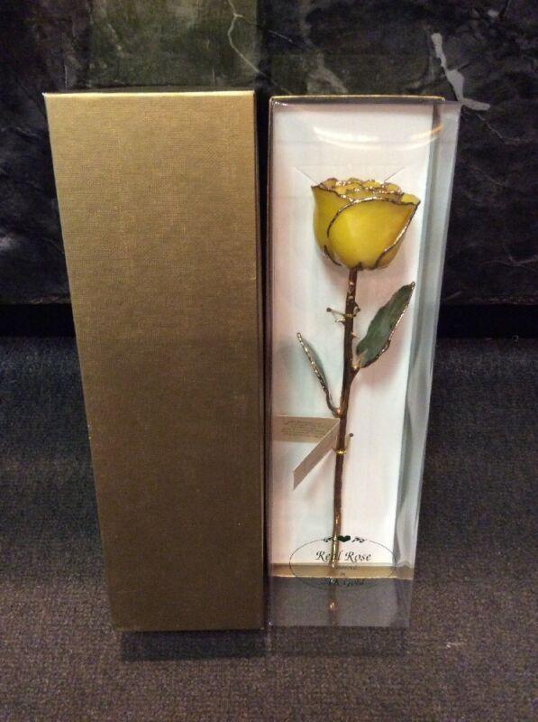 24k Gold Yellow Rose
