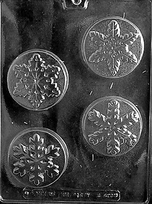 C430 Christmas Assorted Snowflake Oreo Cookie Soap Chocolate Candy Mold  ()