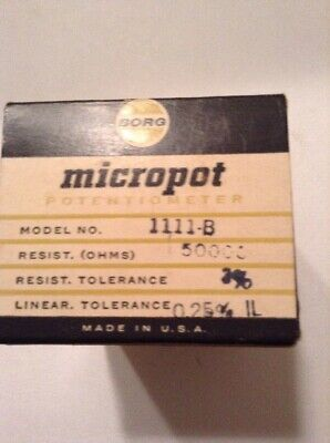 Borg Micropot Potentiometer Model 1111-b Lot Of 4