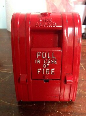 Edwards Red Pull Fire Alarm 270-spo With Glass Rod And Screws Non Coded