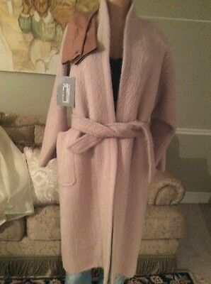 Max Mara Pink Blush Alpaca Blend Pulvino and leather glove Pockets $3600  US 4