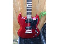 Epiphone SG-Special Electric Guitar (w/ KillPotTM), Cherry Red With Hardcase & Lead