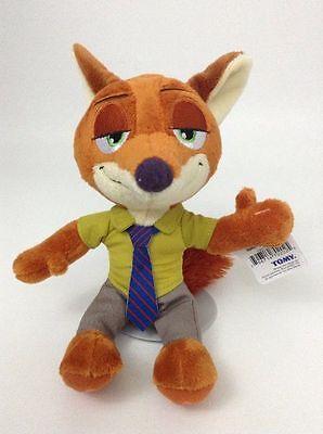 """NEW Disney Zootopia Nick Wilde Fox 9"""" Tomy Plush Stuffed Animal Toy w/ Tags"""