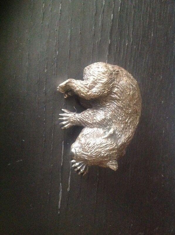 Heavy Guinea Pig Brass Figurine