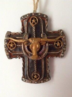 Western Cattlehead Cross Christmas Ornament Cross Christmas Ornament