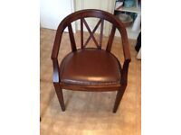 Laura Ashley Chair (for office or dinning) - solid wood and leather
