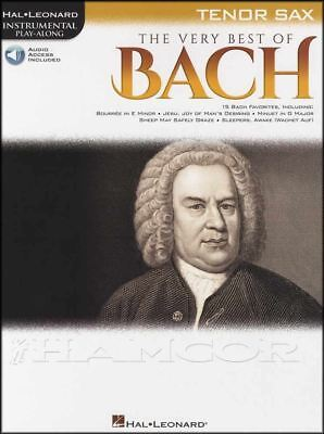The Very Best of Bach Tenor Saxophone Instrumental Play-Along Music