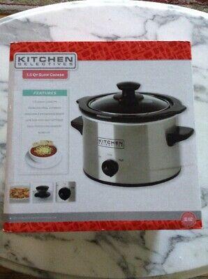NIB Kitchen Selectives Slow Cooker 1.5QT