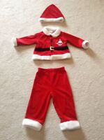 Adorable Boy's Santa Outfit with Matching Hat - Size 18 Months