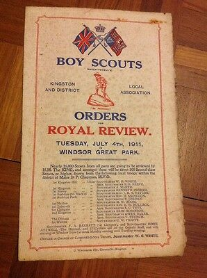 Boy Scouts Orders For Royal Review July 4th 1911 Windsor Great Park Vintage