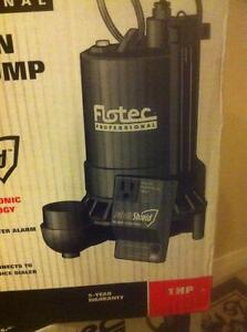 BRAND NEW FLOTECK PROFESSIONAL 1HP CAST IRON SUMP PUMP