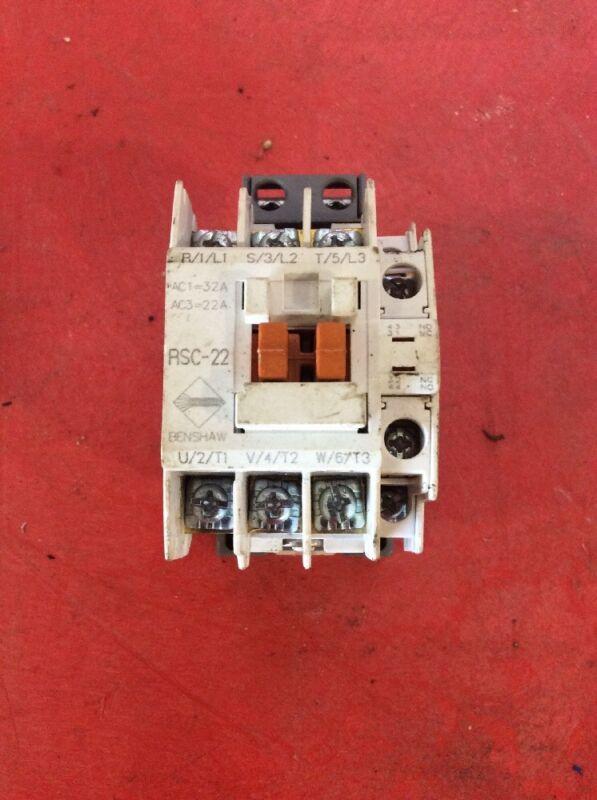 Benshaw RSC-22 120 Volt Coil Contactor