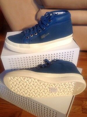Mens Alexander Mcqueen PUMA Rabble Mid Blue Fashion Sneakers US 7 35531801 $175