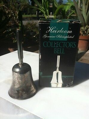 Heirloom Silver Plated Collectors Bell In Box