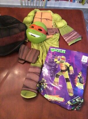 Ninja Mutant Turtles Michelangelo Halloween Costume Size Small for 3-4 Yrs Old](Turtle Costume For Kids)