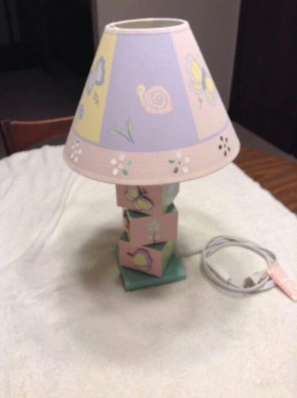 Nursery & Girls Bedroom Wooden Lamp
