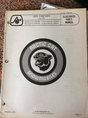 1976 Arctic Cat Panther Snowmobile Illustrated Parts Manual (440,500)
