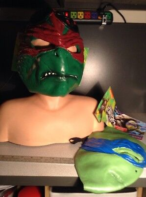Rubie's Costume Mutant Ninja Turtles Movie Raphael / Leonardo Adult 3/4 Mask - Ninja Turtles Movie Costumes
