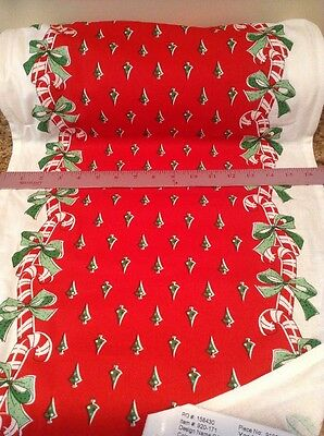 Crop STYLE Kitchen Towel Fabric Moda Home Candy Canes 920-171 Christmas