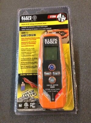 Klein Tools Et250 Digital Acdc Voltage Continuity Tester