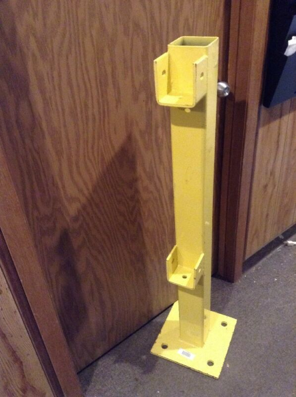NEW End Post,45 Inch high, Safety Yellow, Steel  22DN08
