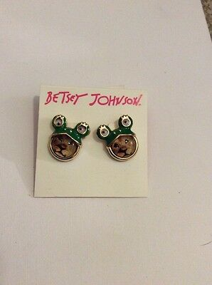 Betsey Johnson Costume Critters Lion Frog Prince  Earrings $30. #144A
